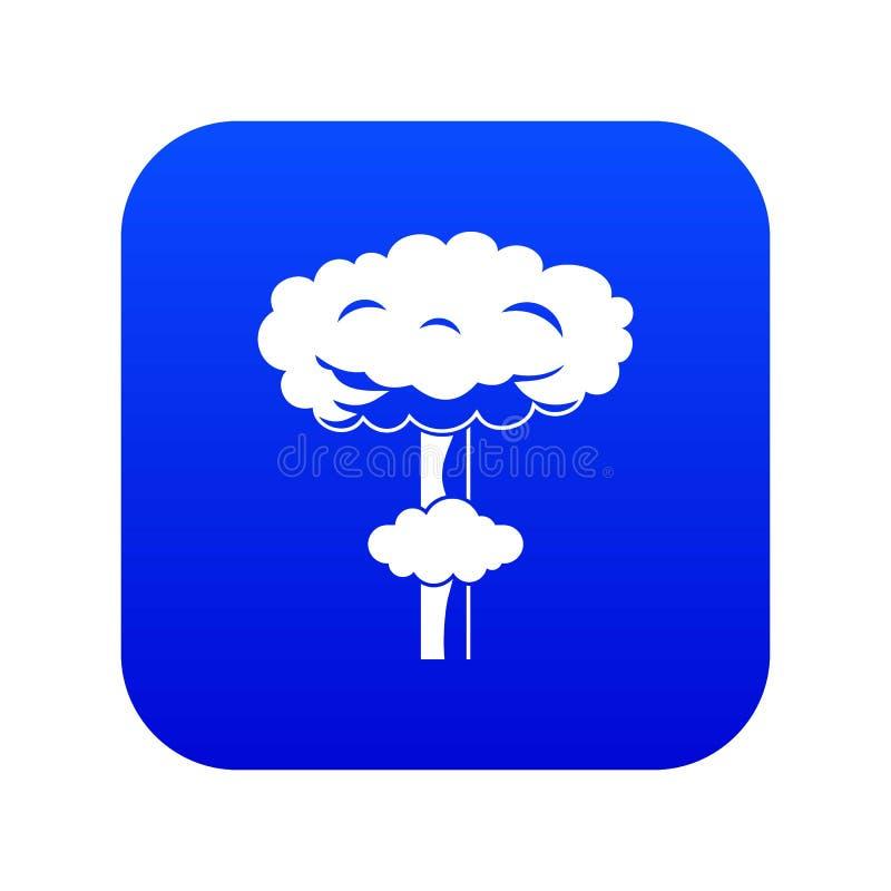 Het kern digitale blauw van het explosiepictogram stock illustratie