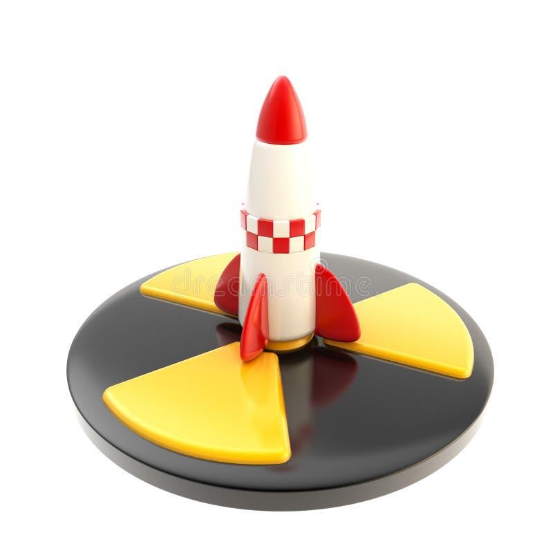 Het kern geïsoleerdeu teken van de raketoorlog vector illustratie