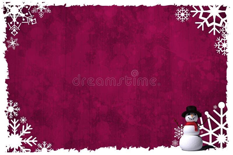 Het Kerstmis als thema gehade kader van de sneeuwvlok royalty-vrije illustratie
