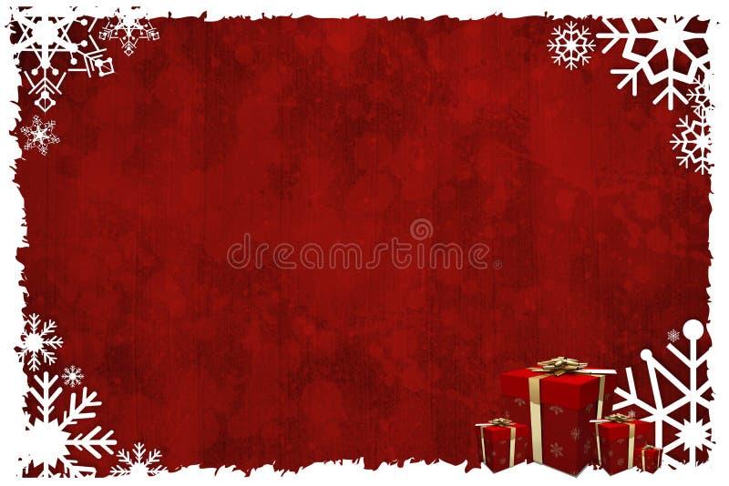 Het Kerstmis als thema gehade kader van de sneeuwvlok stock illustratie