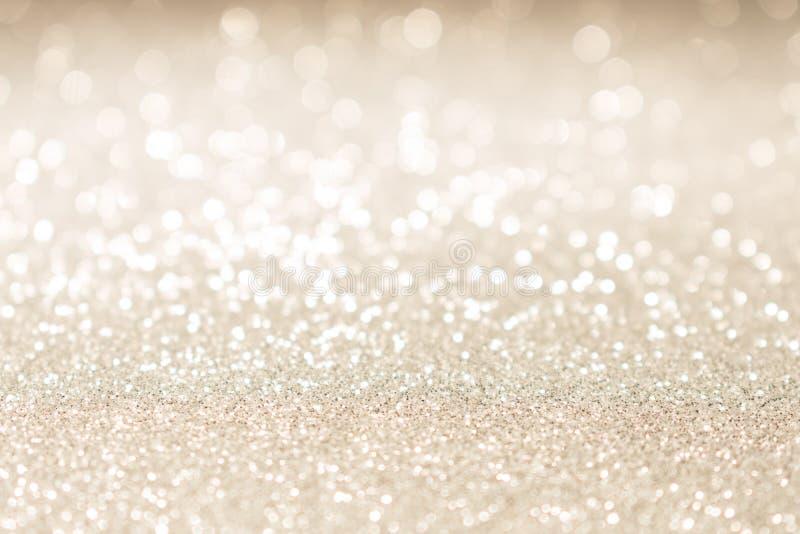 Het Kerstmisgoud schittert uitstekende lichtenachtergrond royalty-vrije stock afbeeldingen