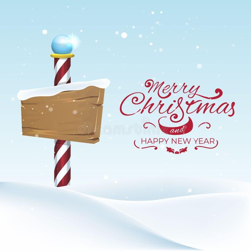 Het Kerstmislandschap met het Noordenpool zingt illustratie vector illustratie