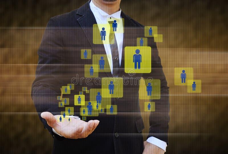 Het kiezen van de juiste persoon op een groep bedrijfsmensen vector illustratie