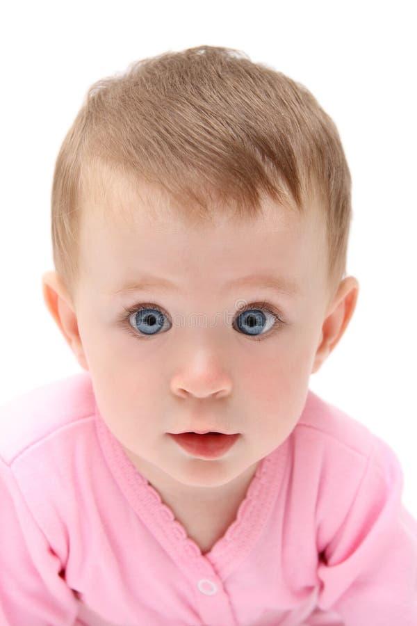 Het kijken aan u babymeisje royalty-vrije stock afbeeldingen