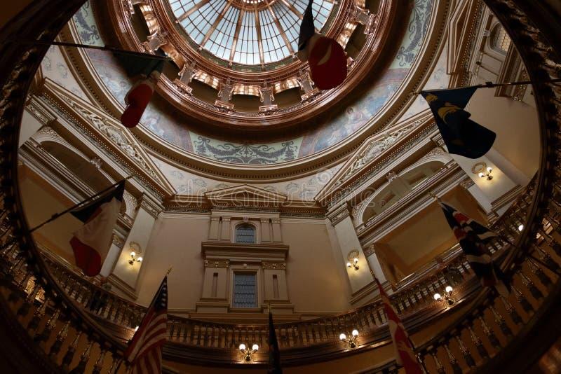 Het kijken omhoog van Rotonde in het Capitool van de Staat van Kansas royalty-vrije stock foto