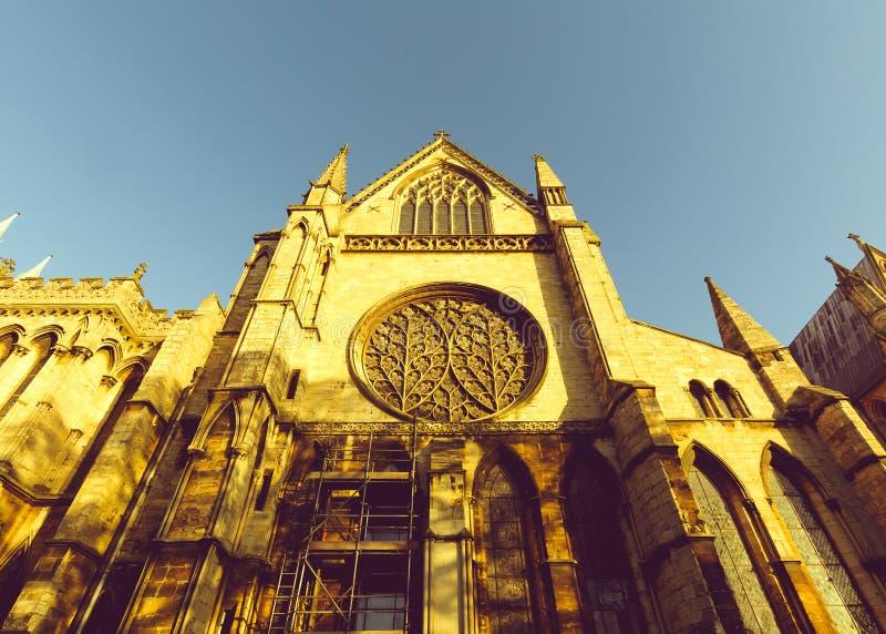 Het kijken op Zuidendwarsschip van Lincoln Cathedral royalty-vrije stock afbeelding