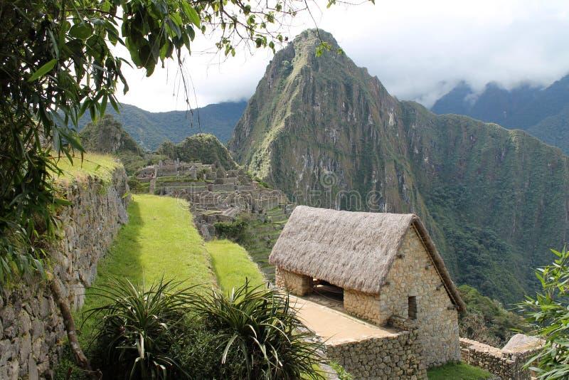 Het kijken over de Hoogten van Machu Picchu royalty-vrije stock afbeelding