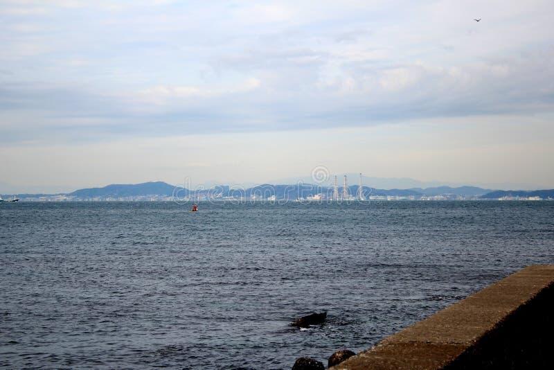 Het kijken terug naar Kurihama van de Prefectuur van Chiba royalty-vrije stock foto