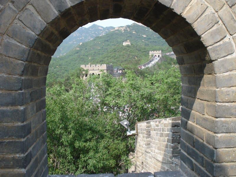 Het kijken uit op de Muur stock afbeelding