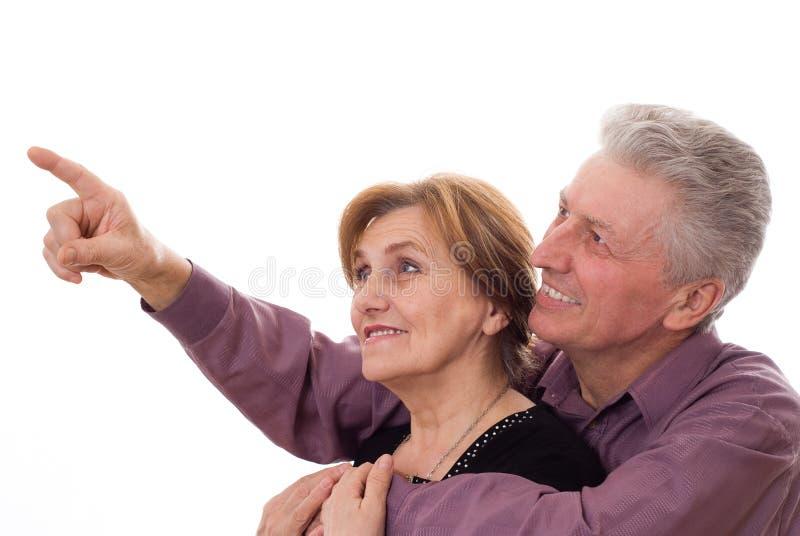 Het kijken van de man en van de vrouw stock foto