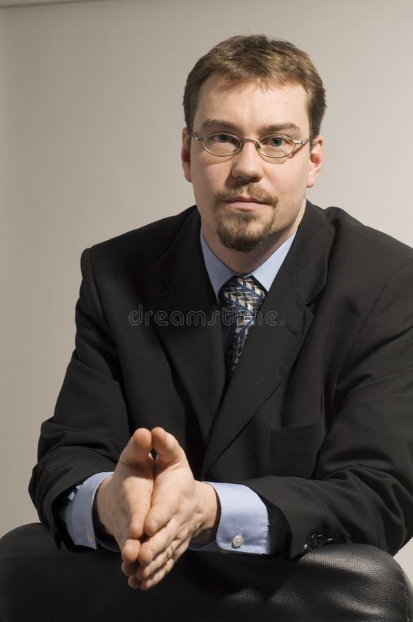 Het kijken van de zakenman stock foto's