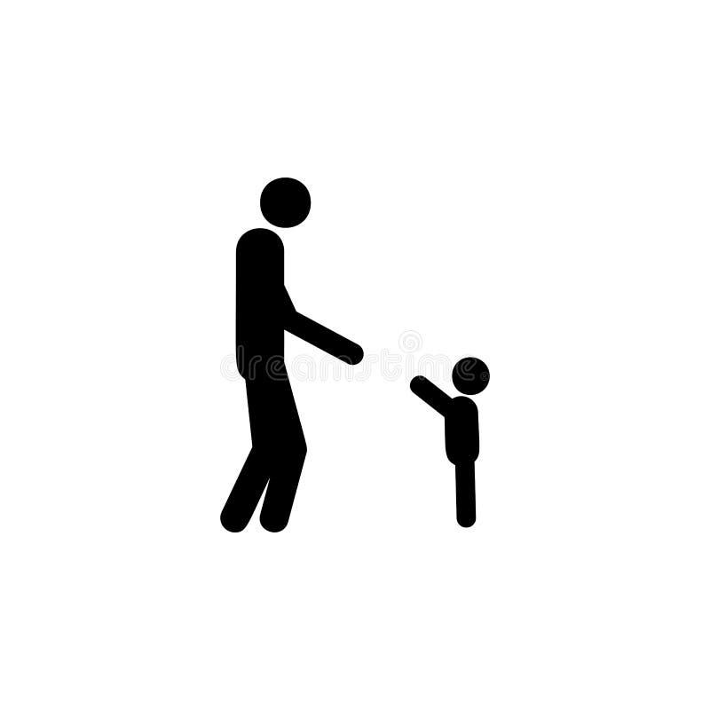 het kind bereikt vaderpictogram Element van het leven gehuwde mensenillustratie Grafisch het ontwerppictogram van de premiekwalit stock illustratie