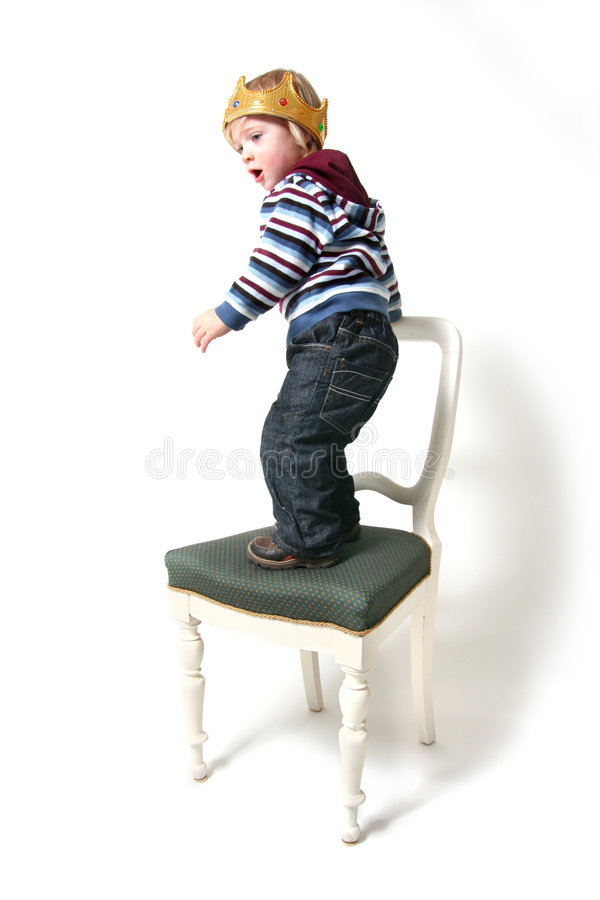 Het kind is de werkgever stock foto's