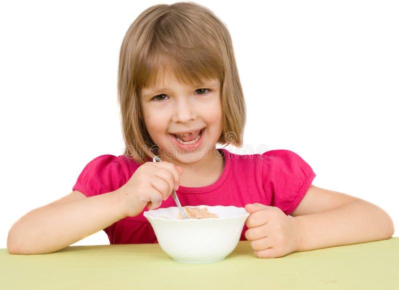 Het kind eet royalty-vrije stock foto
