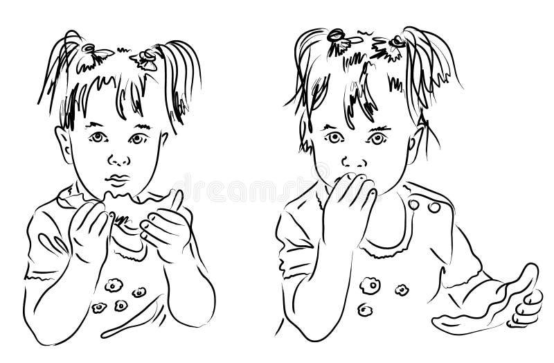 Kalligrafisch kind vector illustratie