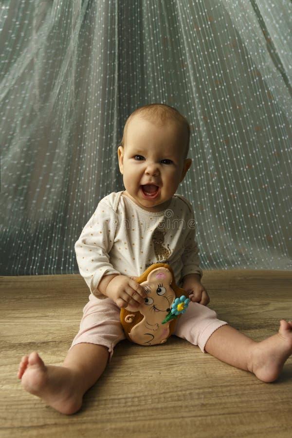 Het kind glimlacht royalty-vrije stock foto's