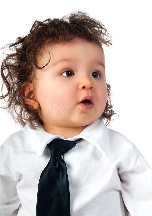 Het kind kleedde zich in zaken royalty-vrije stock fotografie