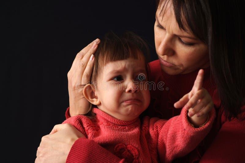 Het kind schreeuwde royalty-vrije stock foto's