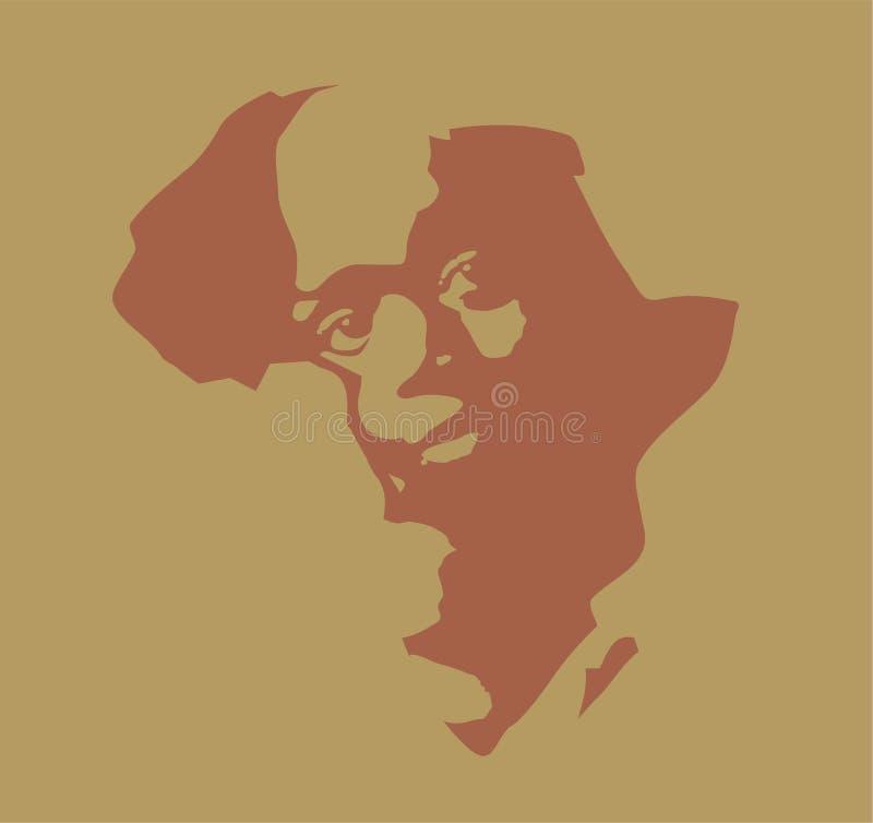 Het Kind van Afrika vector illustratie