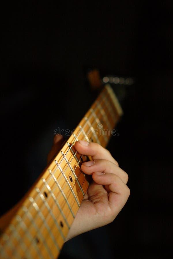 Het Kind van de gitaar stock afbeeldingen