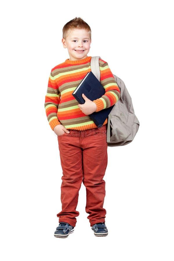 Het kind van de student met boeken royalty-vrije stock afbeelding