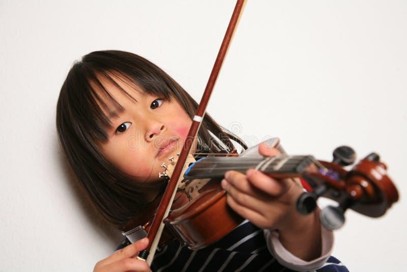 Het kind van de viool royalty-vrije stock foto