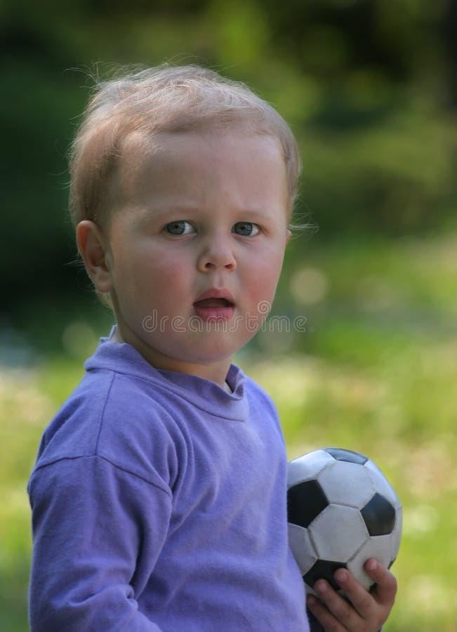 Voetbalkind stock foto