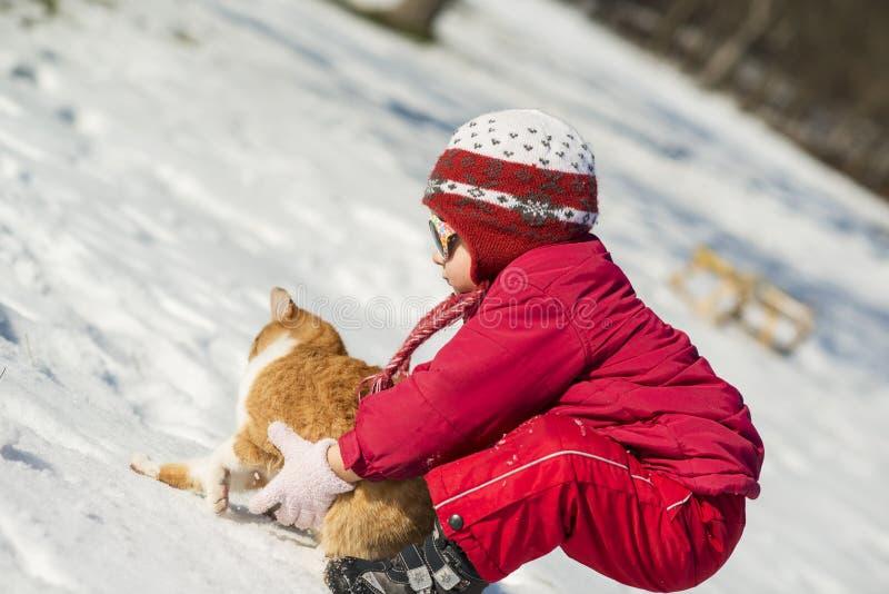 Het Kind Van De Winter Stock Fotografie