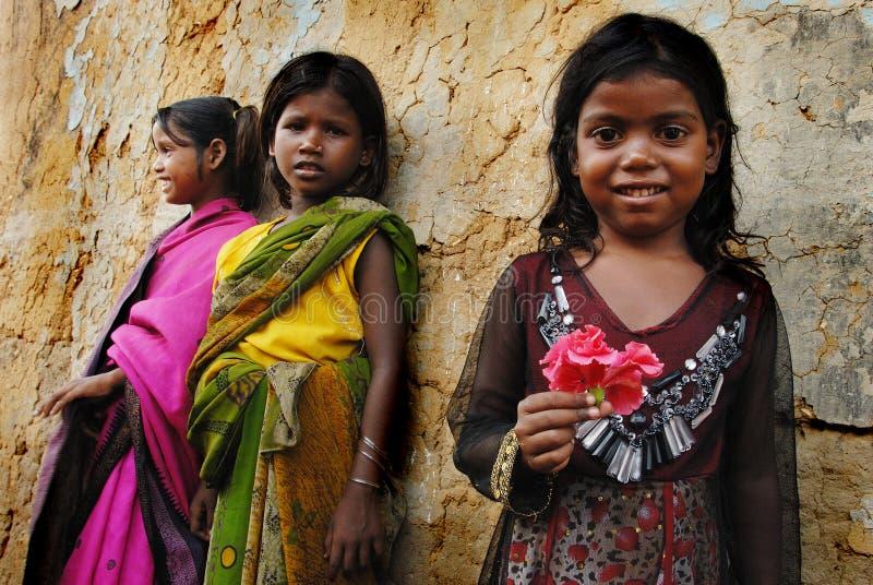 Het kind van het meisje in India royalty-vrije stock afbeeldingen