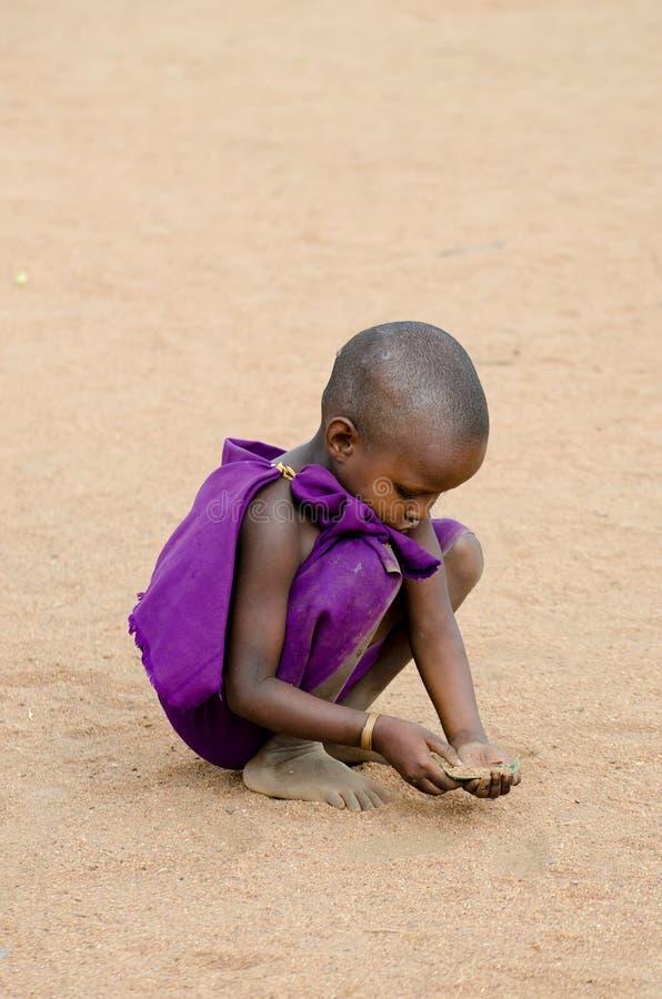 Het kind van Masai royalty-vrije stock afbeelding