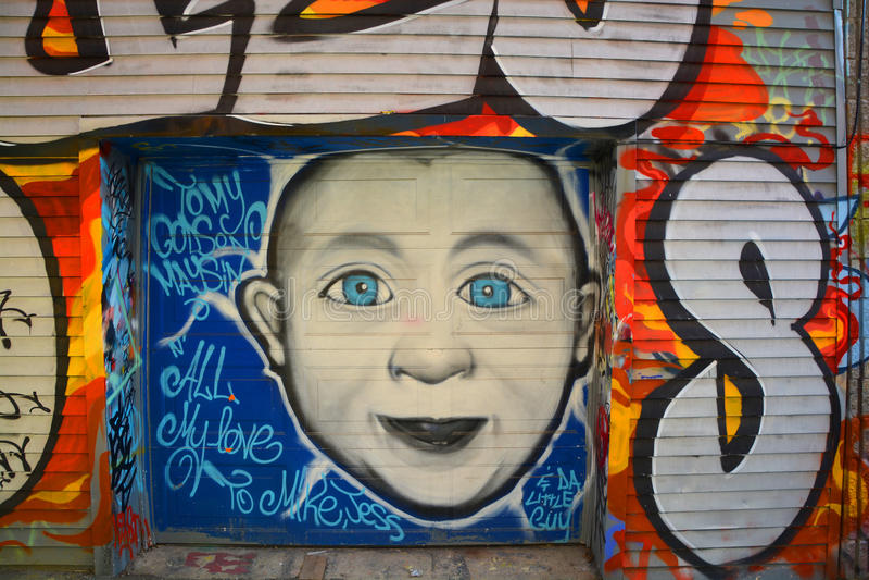 Het kind van Montreal van de straatkunst stock afbeeldingen