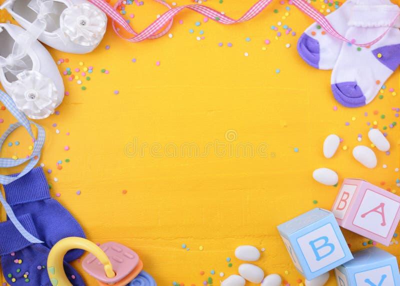 Het Kinderdagverblijfachtergrond van de babydouche royalty-vrije stock afbeeldingen