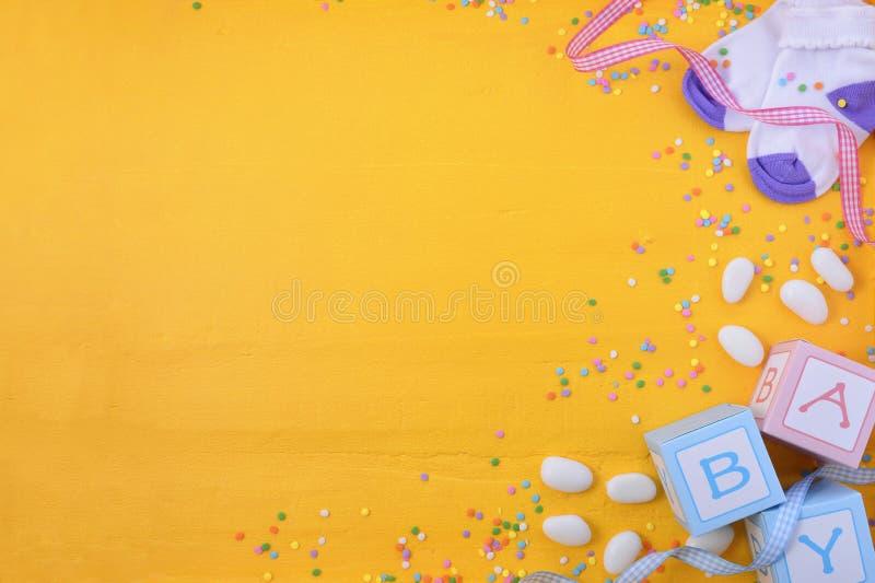 Het Kinderdagverblijfachtergrond van de babydouche stock afbeelding