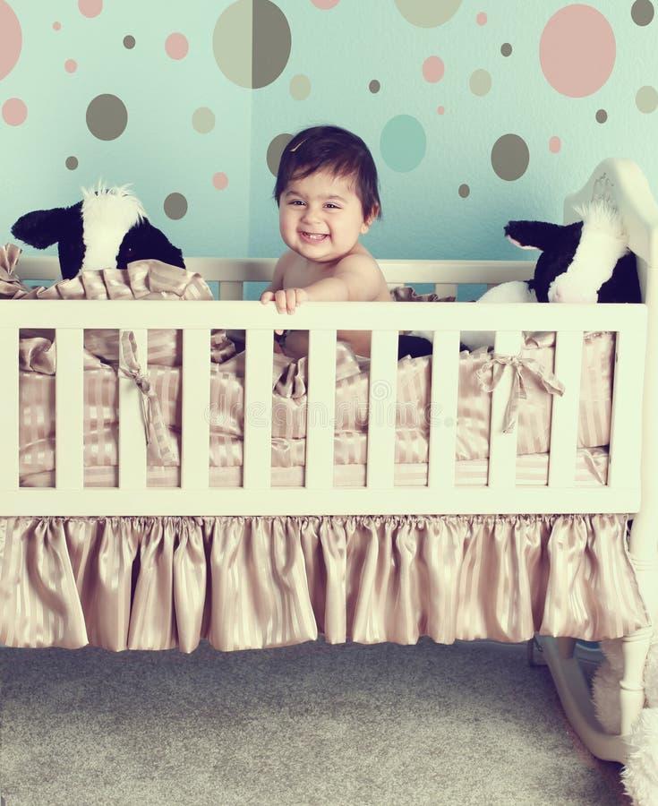 Het kinderdagverblijfruimte van de baby royalty-vrije stock afbeeldingen