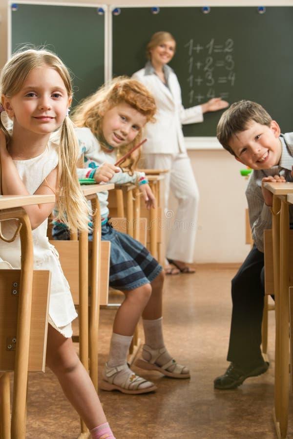 In het klaslokaal royalty-vrije stock fotografie
