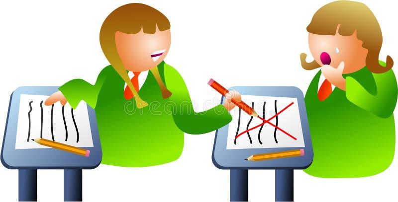 Het klaslokaal intimideert vector illustratie