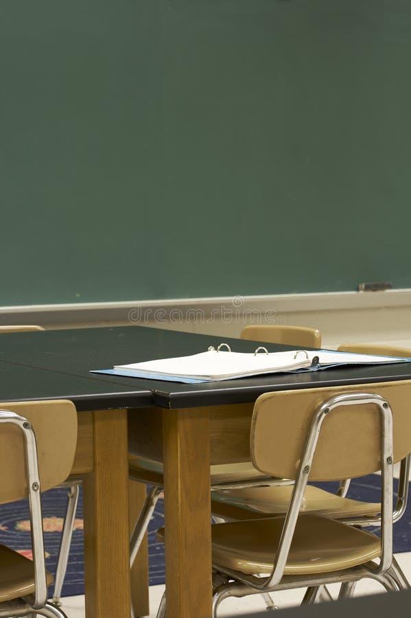 Het klaslokaal van de school stock foto's
