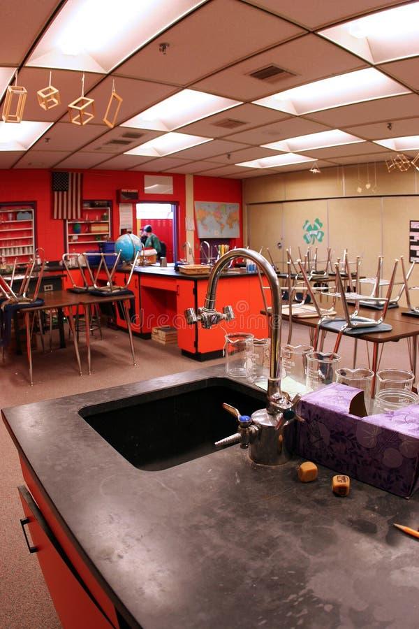 Het Klaslokaal van de wetenschap royalty-vrije stock foto