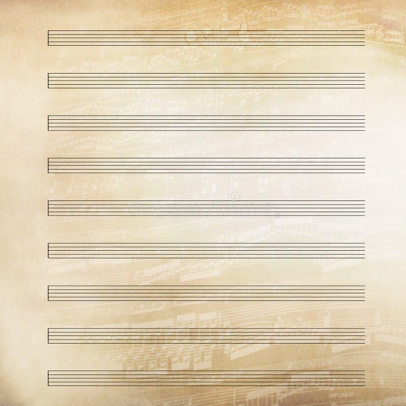 Het klassieke document van het muziekblad royalty-vrije illustratie