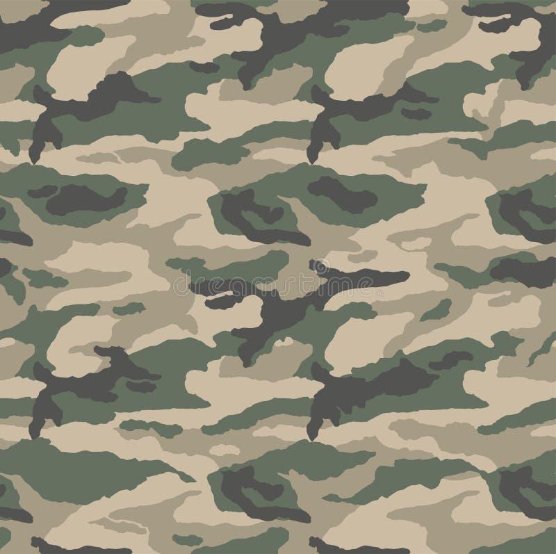 Het klassieke patroon van de camouflagewoestijn stock illustratie