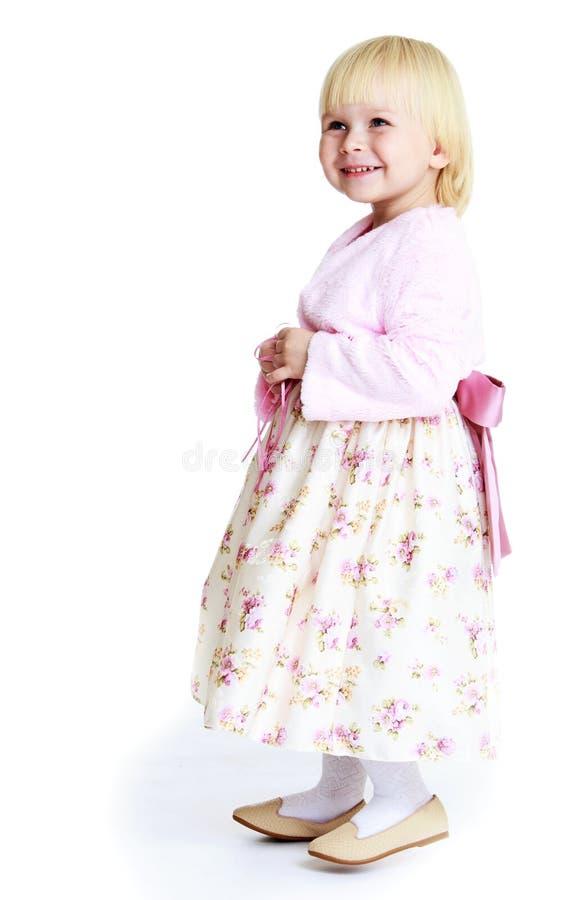 Het kleine blonde meisje stock foto's