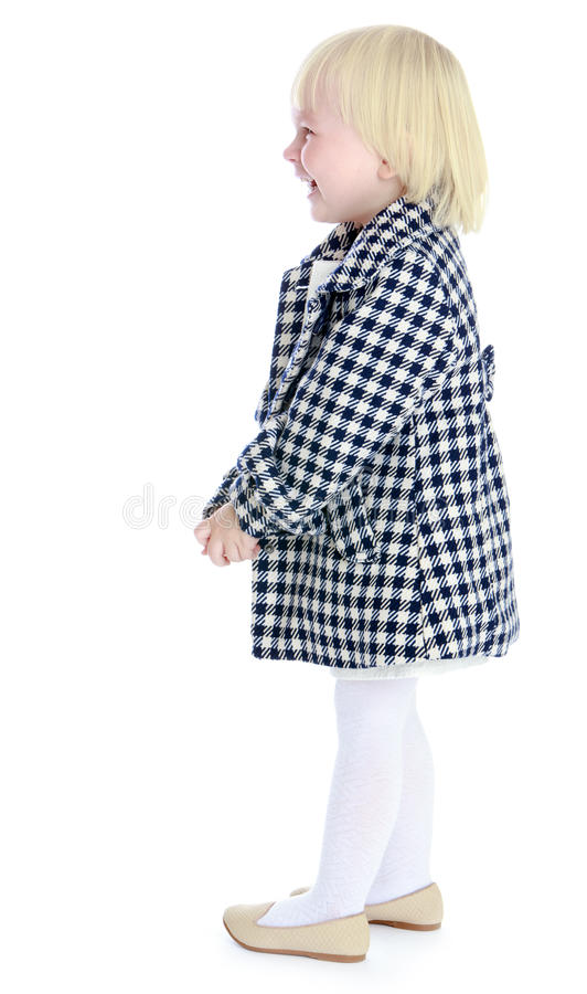 Het kleine blonde meisje royalty-vrije stock fotografie