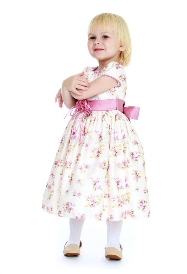 Het kleine blonde meisje stock foto