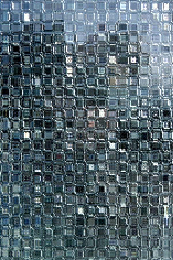 Het kleine glas blokkeert venster. stock afbeelding