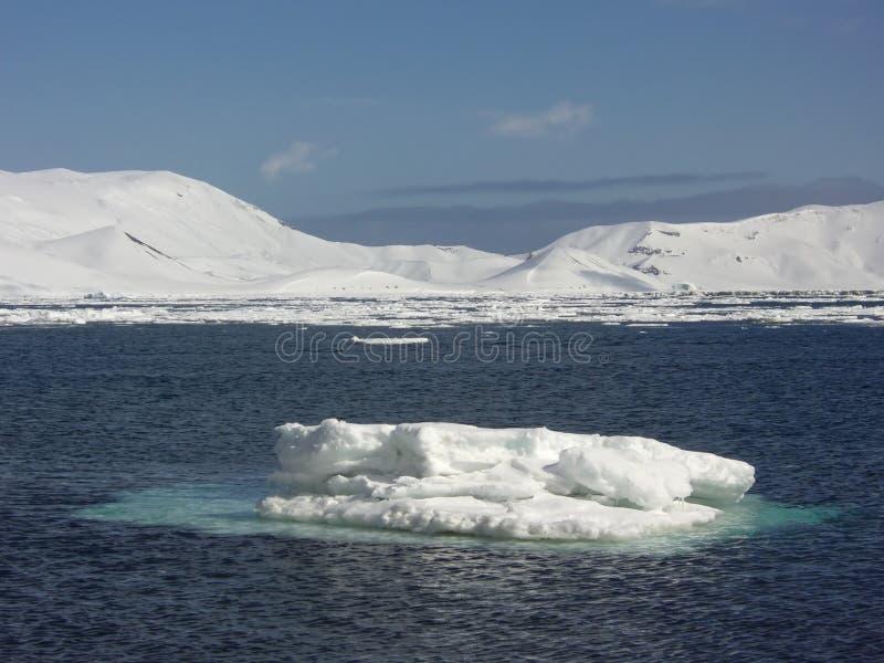 Het kleine ijsberg drijven stock afbeelding