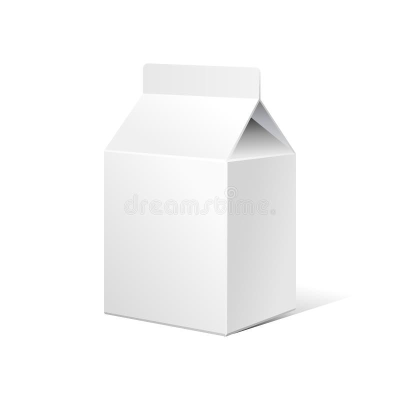 Het kleine Melkkarton verpakt Lege WhiteEPS10 stock illustratie