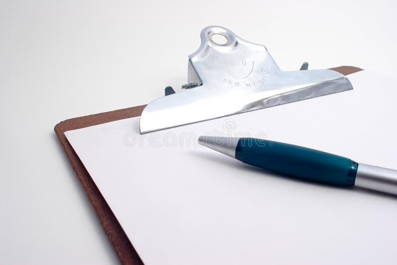Het Klembord van het project met pen stock fotografie