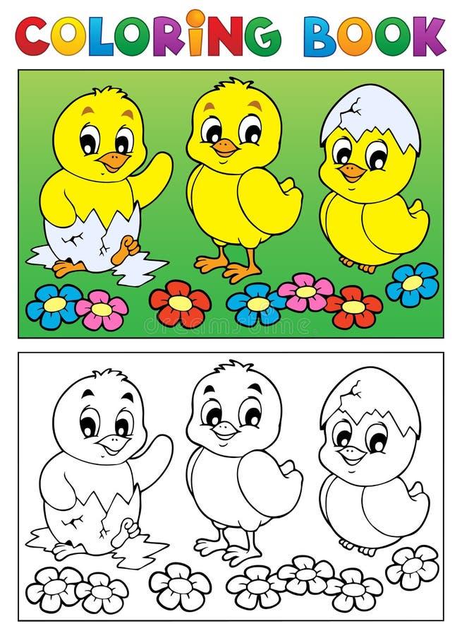Het kleuren beeld 6 van de boekvogel vector illustratie