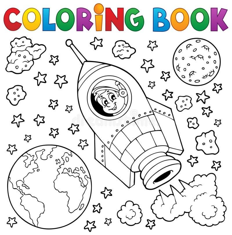 Het kleuren boek ruimtethema 1