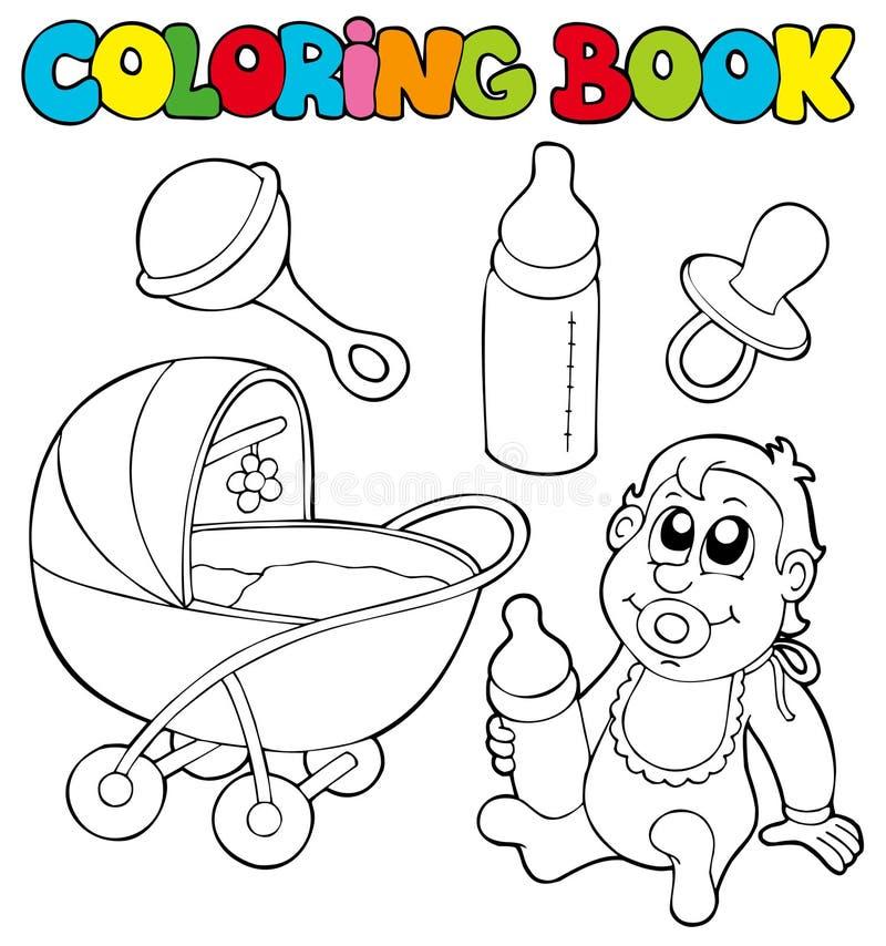 Het kleuren de inzameling van de boekbaby royalty-vrije illustratie